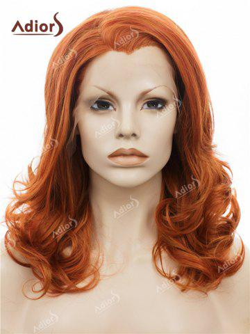 Latest Adiors Long Shaggy Side Swept Bang Curly Lace Front Synthetic Wig - JACINTH  Mobile