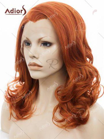 New Adiors Long Shaggy Side Swept Bang Curly Lace Front Synthetic Wig - JACINTH  Mobile