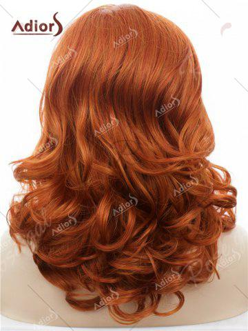 Trendy Adiors Long Shaggy Side Swept Bang Curly Lace Front Synthetic Wig - JACINTH  Mobile
