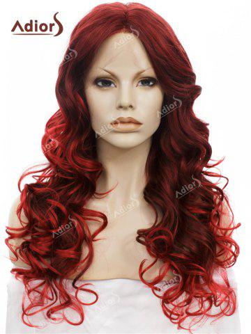 Discount Adiors Long Center Part Layered Curly Lace Front Synthetic Wig