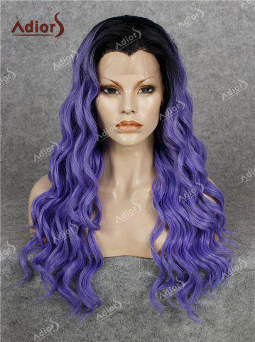 Affordable Adios Long Free Part Shaggy Curly Colormix Lace Front Synthetic Wig
