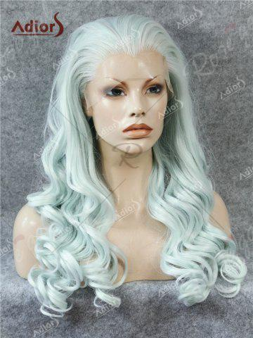 New Adios Free Part Long Shaggy Curly Lace Front Synthetic Wig - CLOUDY  Mobile