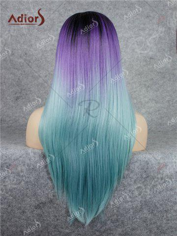 Shop Adiors Long Free Part Colormix Glossy Straight Lace Front Synthetic Wig - LARKSPUR  Mobile
