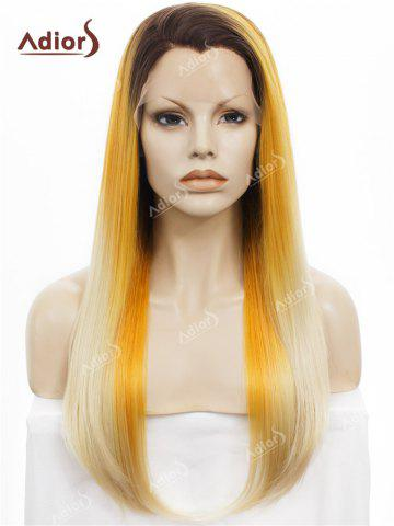 Shop Adiors Long Free Part Colormix Glossy Straight Lace Front Synthetic Wig