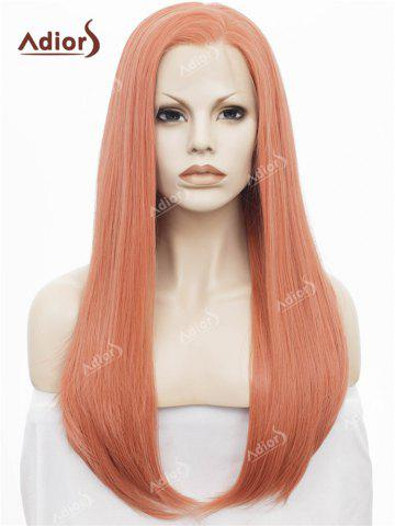 Fashion Adiors Long Free Part Glossy Straight Lace Front Synthetic Wig