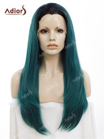 Latest Adiors Long Free Part Ombre Straight Synthetic Lace Front Wig
