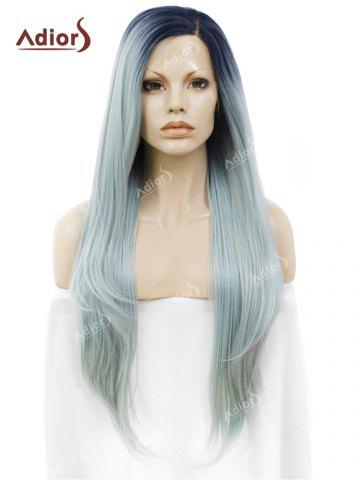 Shops Adiors Long Free Part Ombre Straight Synthetic Lace Front Wig