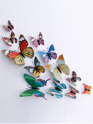 Online 3D Single Wing Butterfly Luminous Wall Stickers - COLORFUL  Mobile