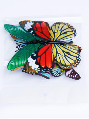 Outfits 3D Single Wing Butterfly Luminous Wall Stickers - COLORFUL  Mobile