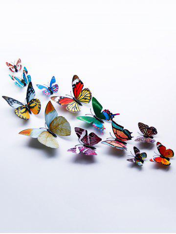 Store 3D Single Wing Butterfly Luminous Wall Stickers COLORFUL