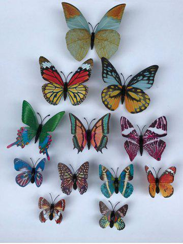 Latest 3D Single Wing Butterfly Luminous Wall Stickers - COLORFUL  Mobile