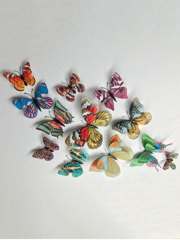 Outfits Home Decoration Double Layer Luminous 3D Butterfly Wall Stickers - COLORFUL  Mobile