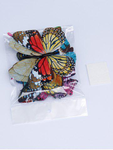 Hot Home Decoration Double Layer Luminous 3D Butterfly Wall Stickers - COLORFUL  Mobile
