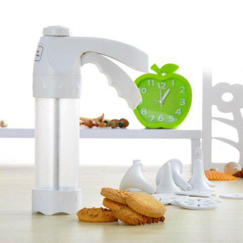 Outfits Cookie Gun Cutter Mold Nozzle Baking Tool Set - WHITE  Mobile