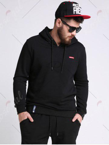 Fashion Battroid Pattern Plus Size Hoodie - 3XL BLACK Mobile