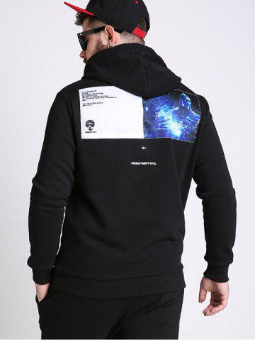 Shop Battroid Pattern Plus Size Hoodie - 3XL BLACK Mobile