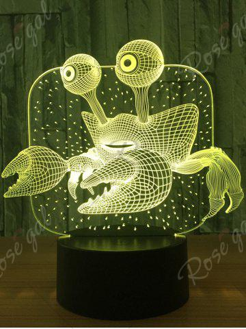 Outfit Crab Color Changing LED 3D Visual Night Light - TRANSPARENT  Mobile