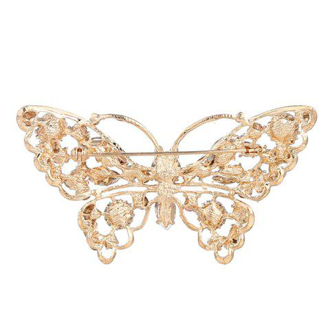 Store Faux Crystal Rhinestone Butterfly Brooch - COLORMIX  Mobile
