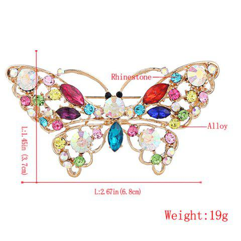 Shop Faux Crystal Rhinestone Butterfly Brooch - COLORMIX  Mobile