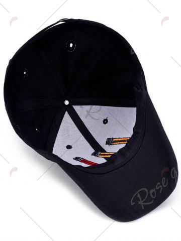 Outfits Pencil Letters Embroidered Baseball Cap - BLACK  Mobile