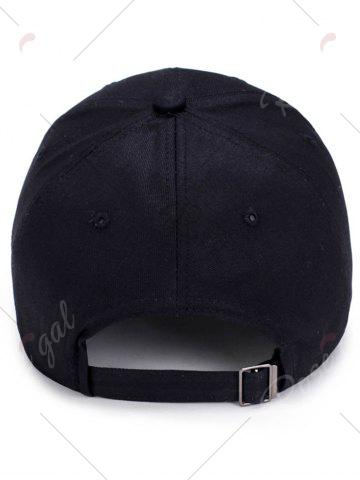 Discount Pencil Letters Embroidered Baseball Cap - BLACK  Mobile