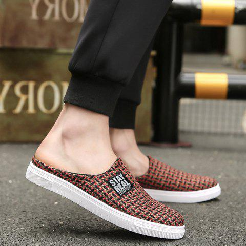 Fancy Letter Printed Gien Check Pattern Casual Shoes - 43 RED Mobile