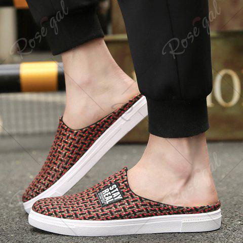 Shops Letter Printed Gien Check Pattern Casual Shoes - 43 RED Mobile
