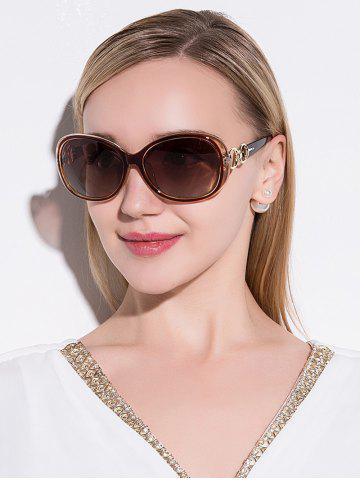 Fancy Polarized Anti UV Sunglasses  TEA-COLORED