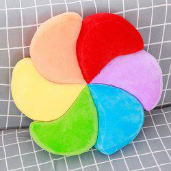 Stuffed Toy Rainbow Pinwheel Shape Throw Pillow