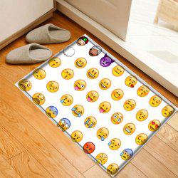Cartoon Emoticon Pattern Anti-skid Water Absorption Area Rug - Multicolore