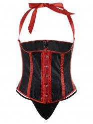 Halter Lace Up Steel Boned Plus Size Corset -