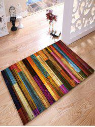 Colorful Stripes Wood Grain Flannel Rug