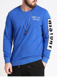 Graphic Letters Print Plus Size Sweatshirt -