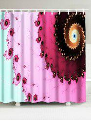 Extra Long Abstract Space Print Fabric Shower Curtain