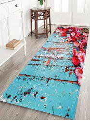 Antislip Retro Plank Floral Home Decor Area Rug