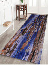 Coral Fleece Vintage Plank Home Entrance Rug