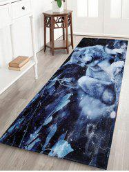 Non-Slip Absorbent Snow Wolf Animal Bathroom Rug - Midnight - W16 Inch * L47 Inch