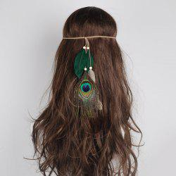 Peacock Feather Indian Charm Headwear - GREEN