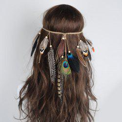 Bohemian Charm Peacock Feather Headwear