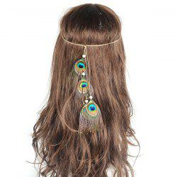 Peacock Feather Indian Hair Accessoire - Vert