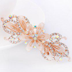 Faux Crystal Floral Hollow Out Barrette - OFF-WHITE