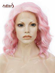 Adiors Medium Side Part Shaggy Wavy Lace Front Synthetic Wig - PINK