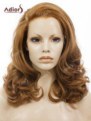Adiors Long Shaggy Side Swept Bang Curly Lace Front Synthetic Wig