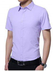 Short Sleeves Plain Shirt