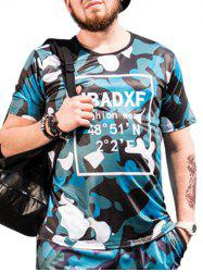 Short Sleeve Graphic Print Camo Tee