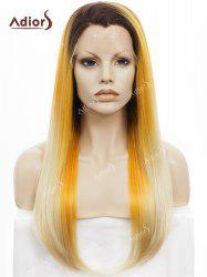Adiors Long Free Part Colormix Glossy Straight Lace Front Synthetic Wig