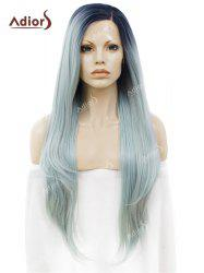 Adiors Long Free Part Ombre Straight Synthetic Lace Front Wig -