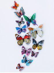 Home Decoration Double Layer Luminous 3D Butterfly Wall Stickers - COLORFUL