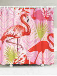 Waterproof Fabric Bathroom Flamingo Shower Curtain