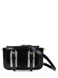 Dual Buckles Mini Cross Body Bag